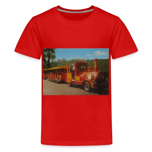 Alter Zug zur Wartburg in Eisenach um 1990 - Teenager Premium T-Shirt
