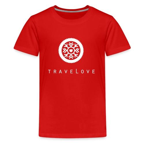 traveLove weißer Aufdruck - Teenager Premium T-Shirt