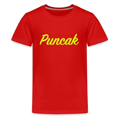 Puncak tekst - Teenager Premium T-shirt