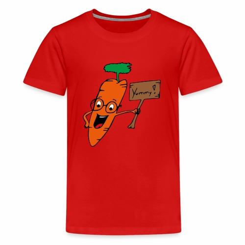 Kalle die Karotte - Teenager Premium T-Shirt
