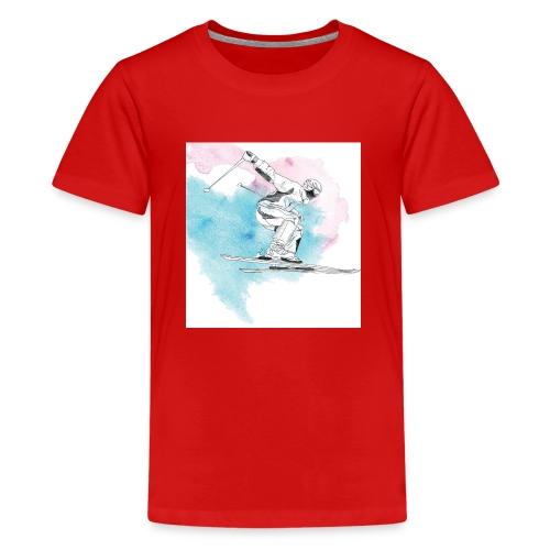 Skiing - Teenage Premium T-Shirt