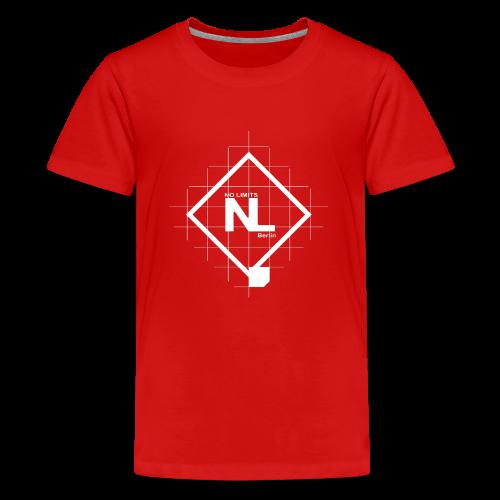 No Limits Logo Weiß - Teenager Premium T-Shirt