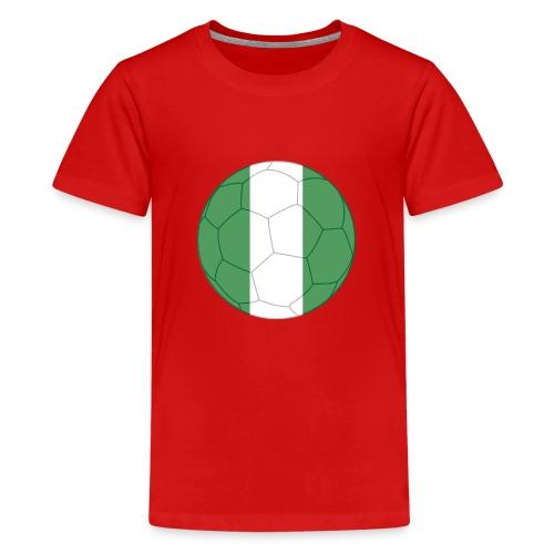 nigeria flag soccer - Teenager Premium T-Shirt