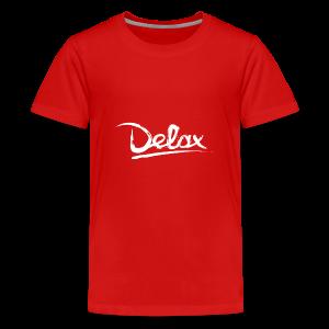 Delax White Logo - Teenager Premium T-shirt