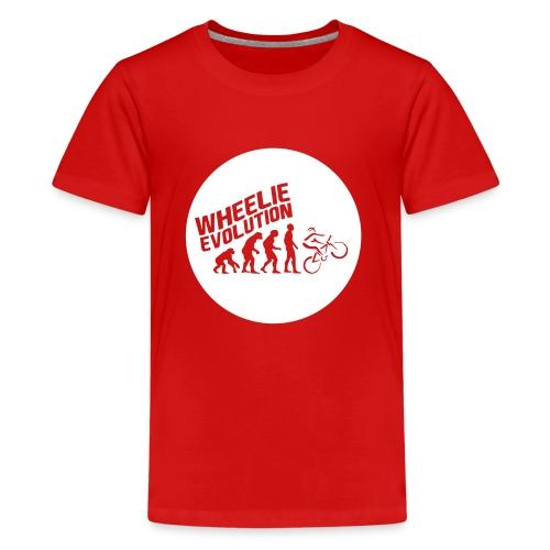 Wheelie Evolution (WHITE) - Teenager Premium T-Shirt