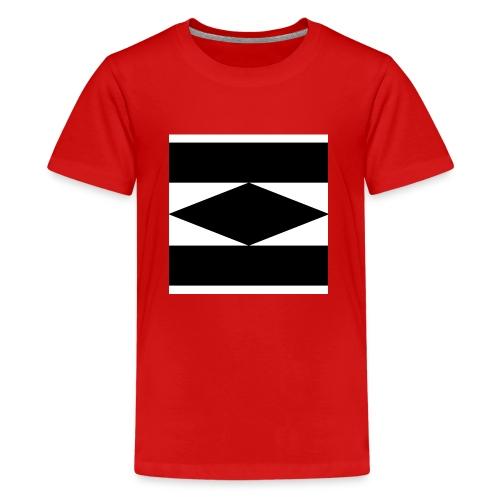 Balken Schwarz - Teenager Premium T-Shirt