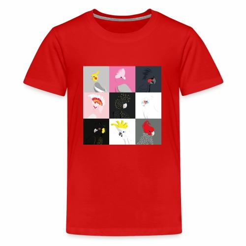 Cockatoo tile portraits - Teenage Premium T-Shirt