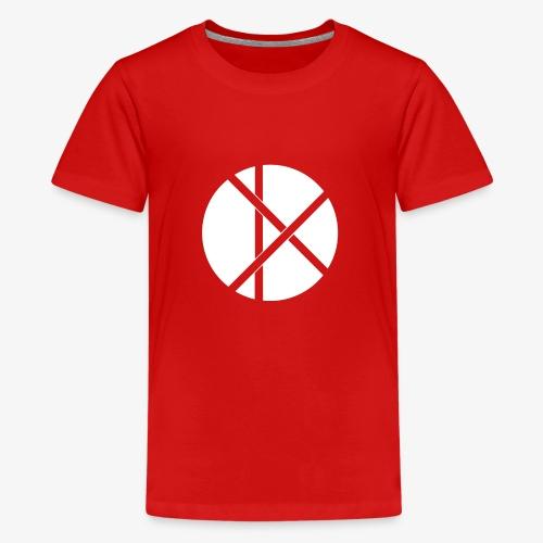 Don Logo - valkoinen - Teinien premium t-paita