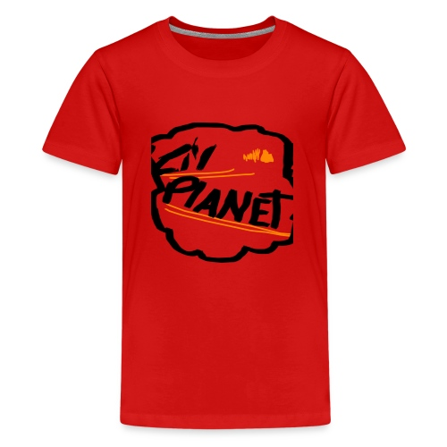 Lil Planet Black Badge Shirt - Teenage Premium T-Shirt