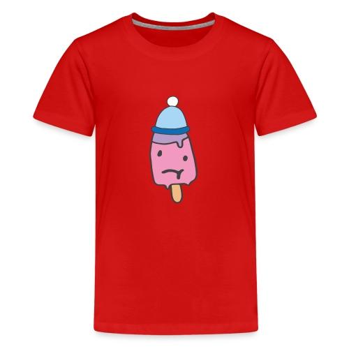 Eis kalt frieren Mütze Geschenkidee Sketch Shirts - Teenager Premium T-Shirt
