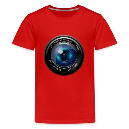 Camera Lens - Maglietta Premium per ragazzi