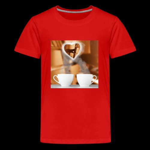 sticallbats coffee for two - Teenage Premium T-Shirt