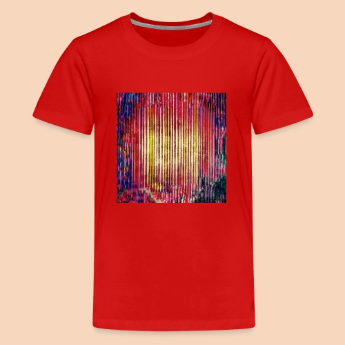 Abstraktes Kunst-Design 2714 by Todd Wichert - Teenager Premium T-Shirt
