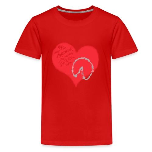Dein Hufabdruck auf meinem Herzen - Teenager Premium T-Shirt