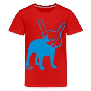 French Bulldogs ROCK! - Teenage Premium T-Shirt