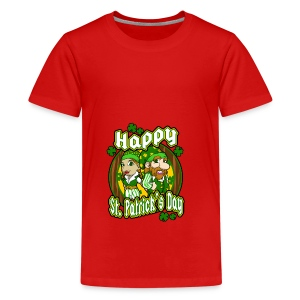 St- Patricks Day couple holiday gift surprise - Teenager Premium T-Shirt