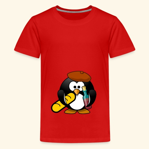 Französisch Baguette Pinguin Stereotyp - Teenager Premium T-Shirt