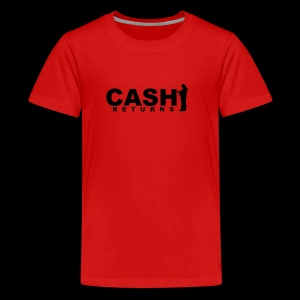 CASH RETURNS Logo (Black) - Teenage Premium T-Shirt