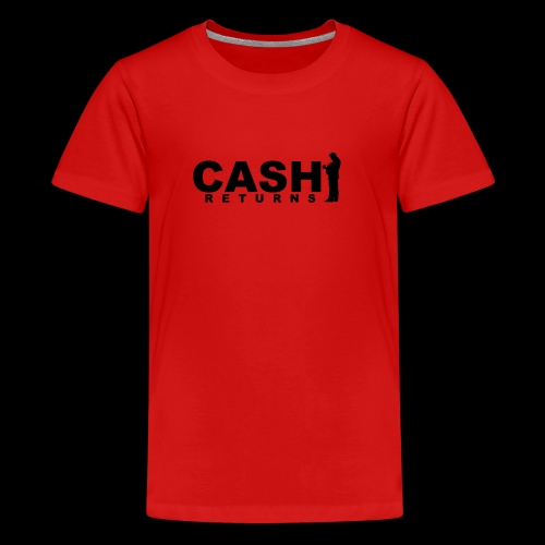 CASH RETURNS Logo (Black) - Teenage Premium T-Shirt