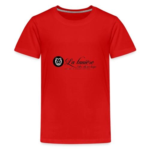 La Tanière des Chiens-Loups(logo plus grand) - T-shirt Premium Ado