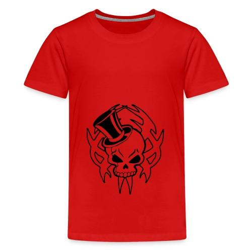 snazzy skull - Teenage Premium T-Shirt