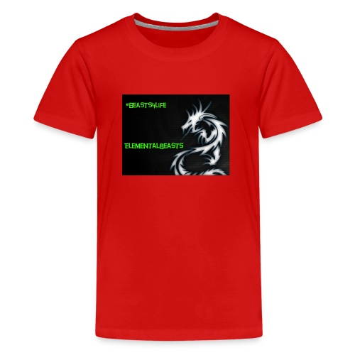 ElementalDragonYT merchandise - Teenage Premium T-Shirt