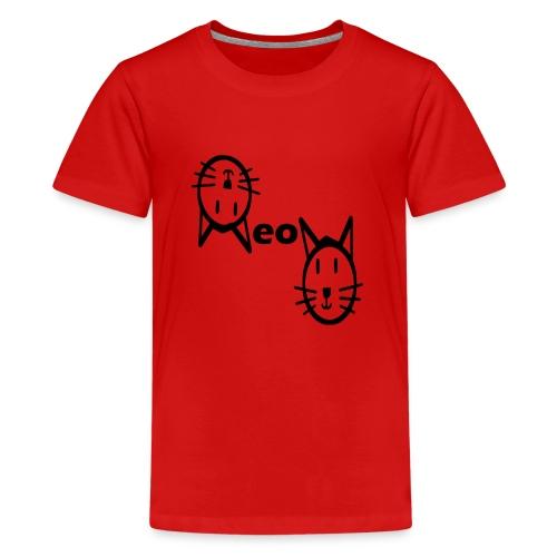 Moew Katzengesicht Geschenk Geschenkidee Katze - Teenager Premium T-Shirt