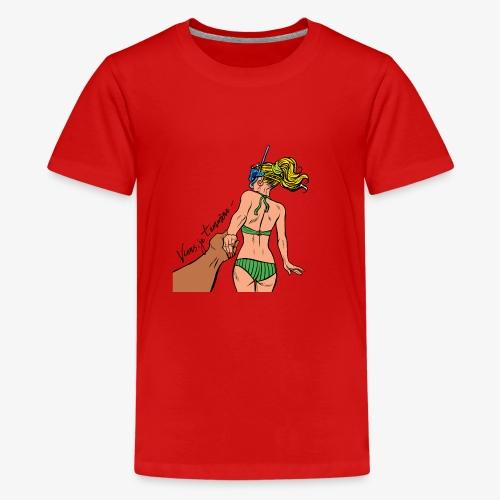 viens je t'emmène ... à la plage - T-shirt Premium Ado
