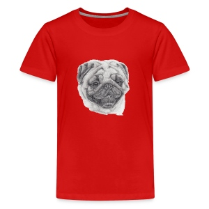 pug mops - Teenager premium T-shirt