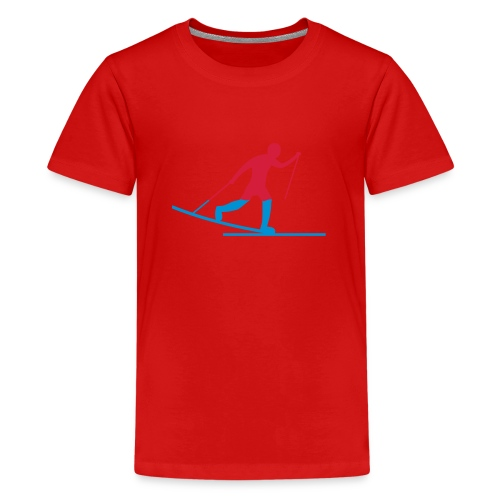 Skiløper - Premium T-skjorte for tenåringer