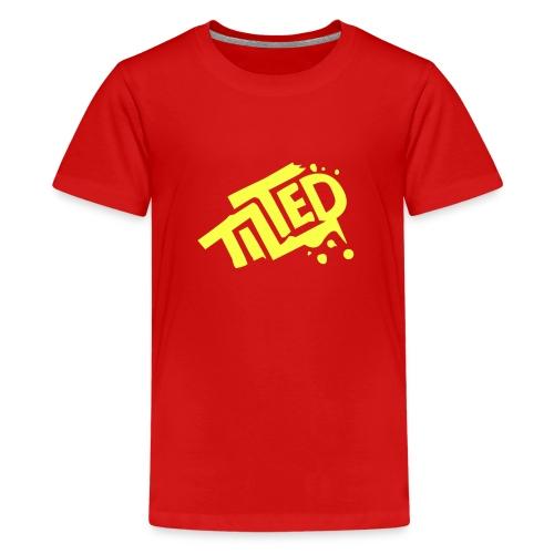 Fortnite Tilted (Yellow Logo) - Teenage Premium T-Shirt