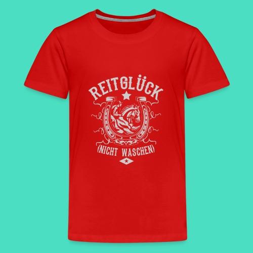 Pferde Shirt · Reiten · Reitsport · Reitglück - Teenager Premium T-Shirt