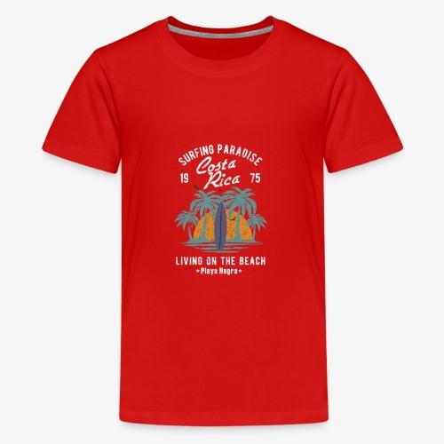Surf Paradies Costa Rica Urlaub - Teenager Premium T-Shirt