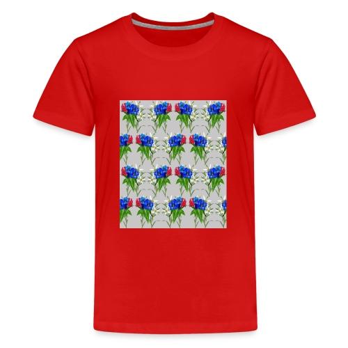 Enzian, Edelweiss und Alpenrose - Teenager Premium T-Shirt