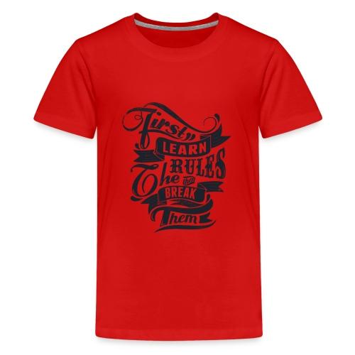 first lirn tchirt - T-shirt Premium Ado