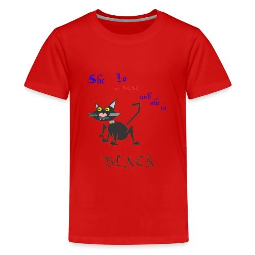 My best cat - Teenage Premium T-Shirt