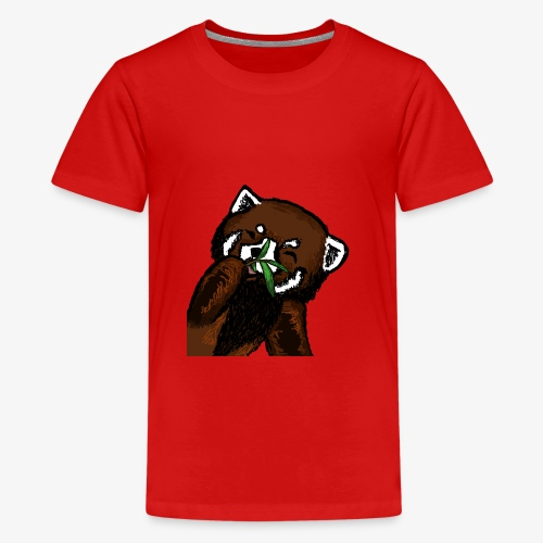 Cute red panda with Bamboo Wildlife T-Shirt - Teenage Premium T-Shirt