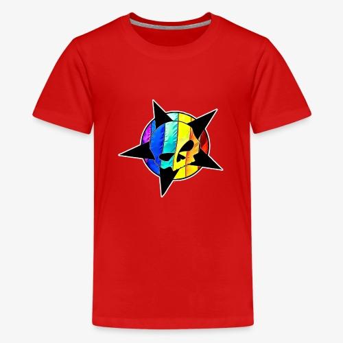 ranbow skull - Teenage Premium T-Shirt