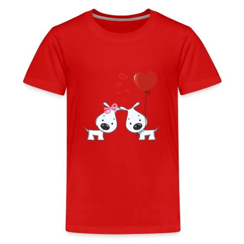 Hunde_Liebe - Teenager Premium T-Shirt