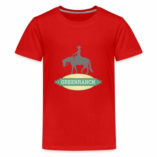 greenranch logo - Teenager Premium T-Shirt
