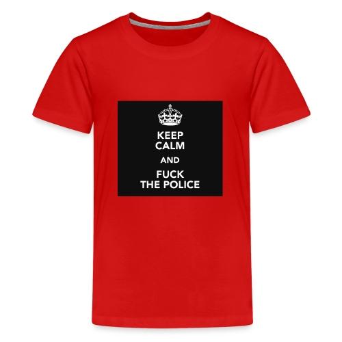 #KeepCalmAndFuckThePolice - Premium-T-shirt tonåring