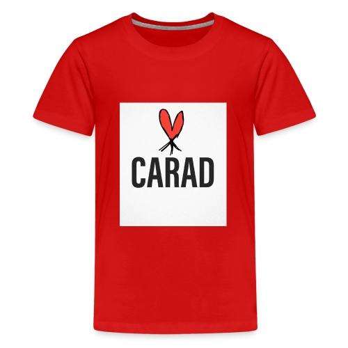 Logo und CARAD - Teenager Premium T-Shirt