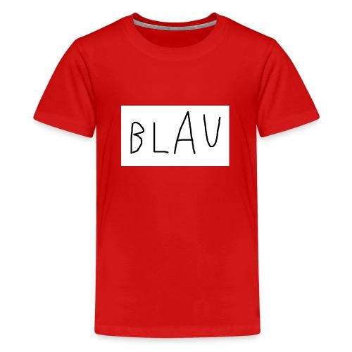 Blau - Teenager Premium T-Shirt