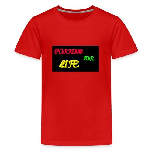 Parkour for Life graffiti merchandise - Teenage Premium T-Shirt