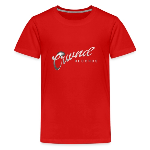 Crwnd Logo Paste - Teenage Premium T-Shirt
