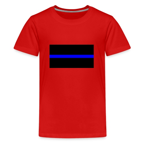 Thin Blue Line - Premium-T-shirt tonåring