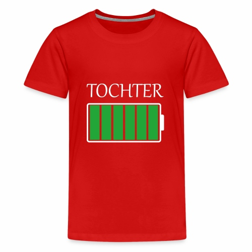 Tochter volle Energie - Teenager Premium T-Shirt