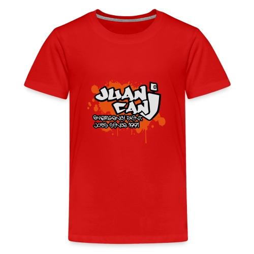 Juan can logo for spreadshirt Orange - Teenage Premium T-Shirt