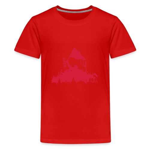 Dresden Demo weiss rot - Teenager Premium T-Shirt