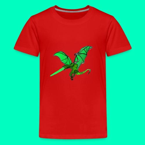 Gift speiender Drache - Teenager Premium T-Shirt
